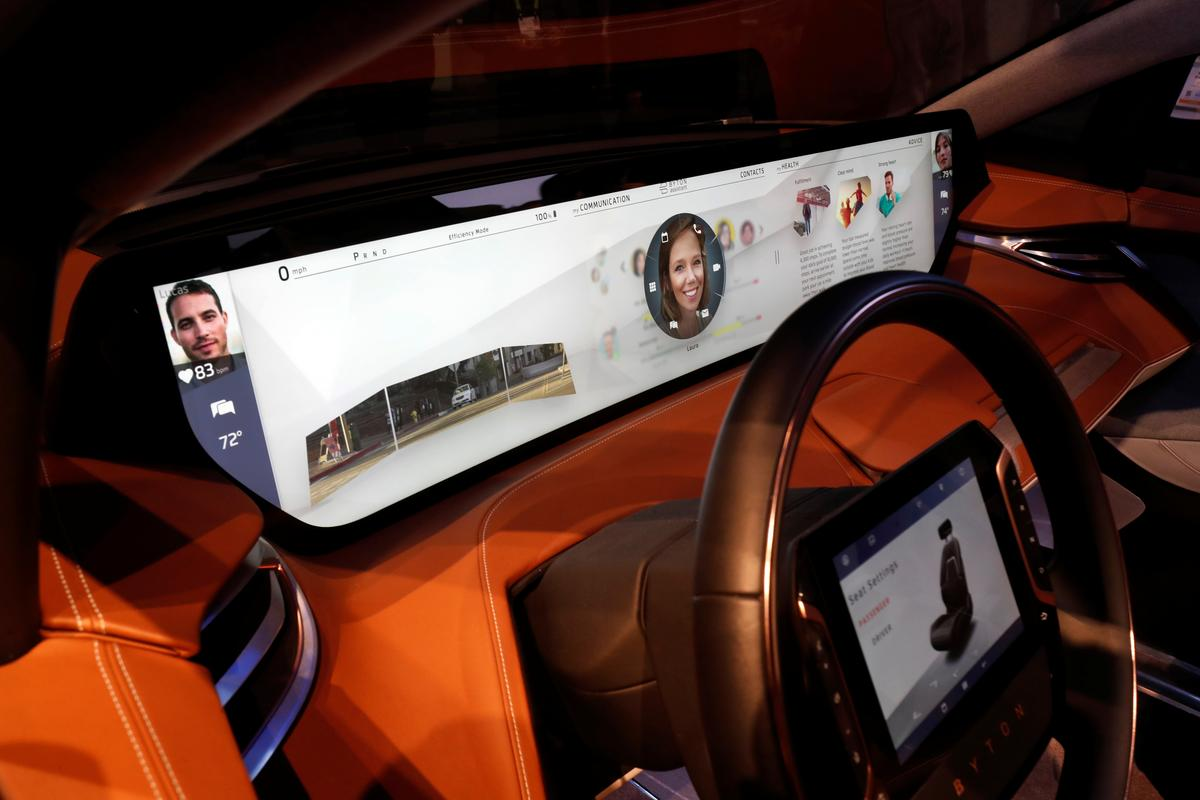 Vehicle Screens Go Super-sized at CES as Tech Catches up