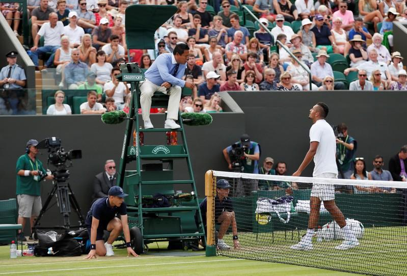 Tennis: Umpiring a 'strange occupation', says Kyrgios