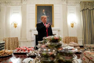 Fast food feast at the White House