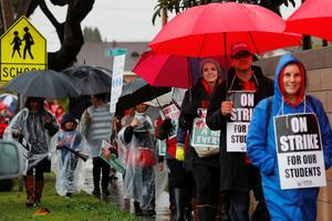 Los Angeles teachers on strike