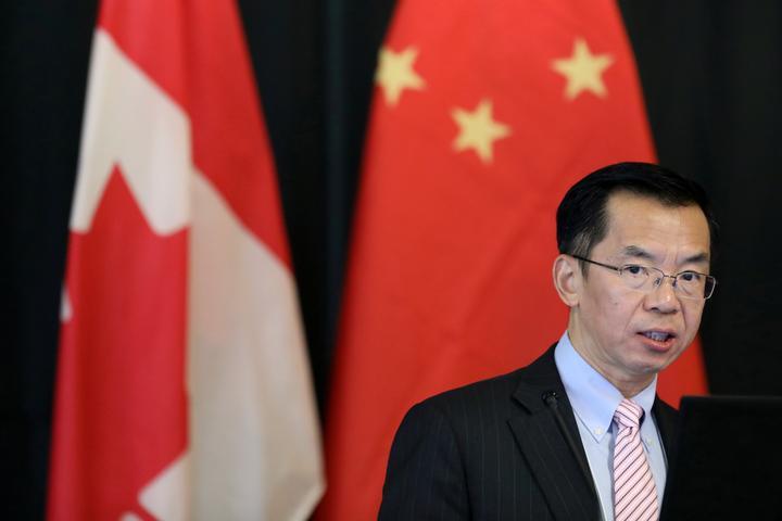 駐カナダ中国大使、5G技術のファーウェイ排除に警告