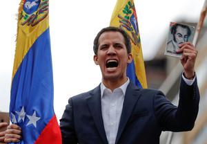 Venezuela's Guaido declares himself president