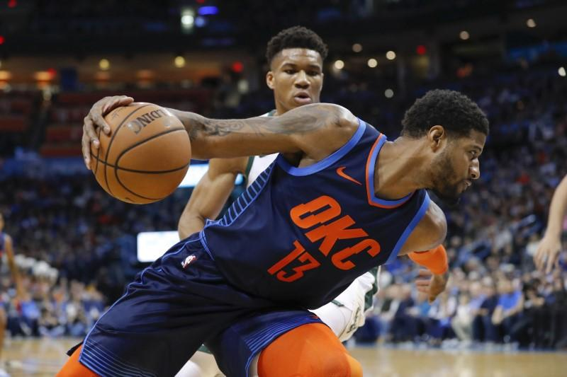 NBA roundup: George's 36 lead Thunder past Bucks