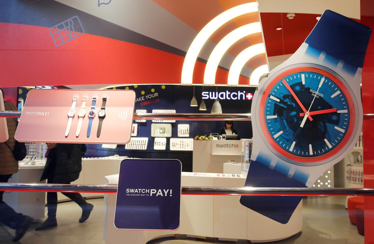 03f147a496e5 FILE PHOTO  Watches are displayed in a window of a store of Swiss  manufacturer Swatch in Zurich