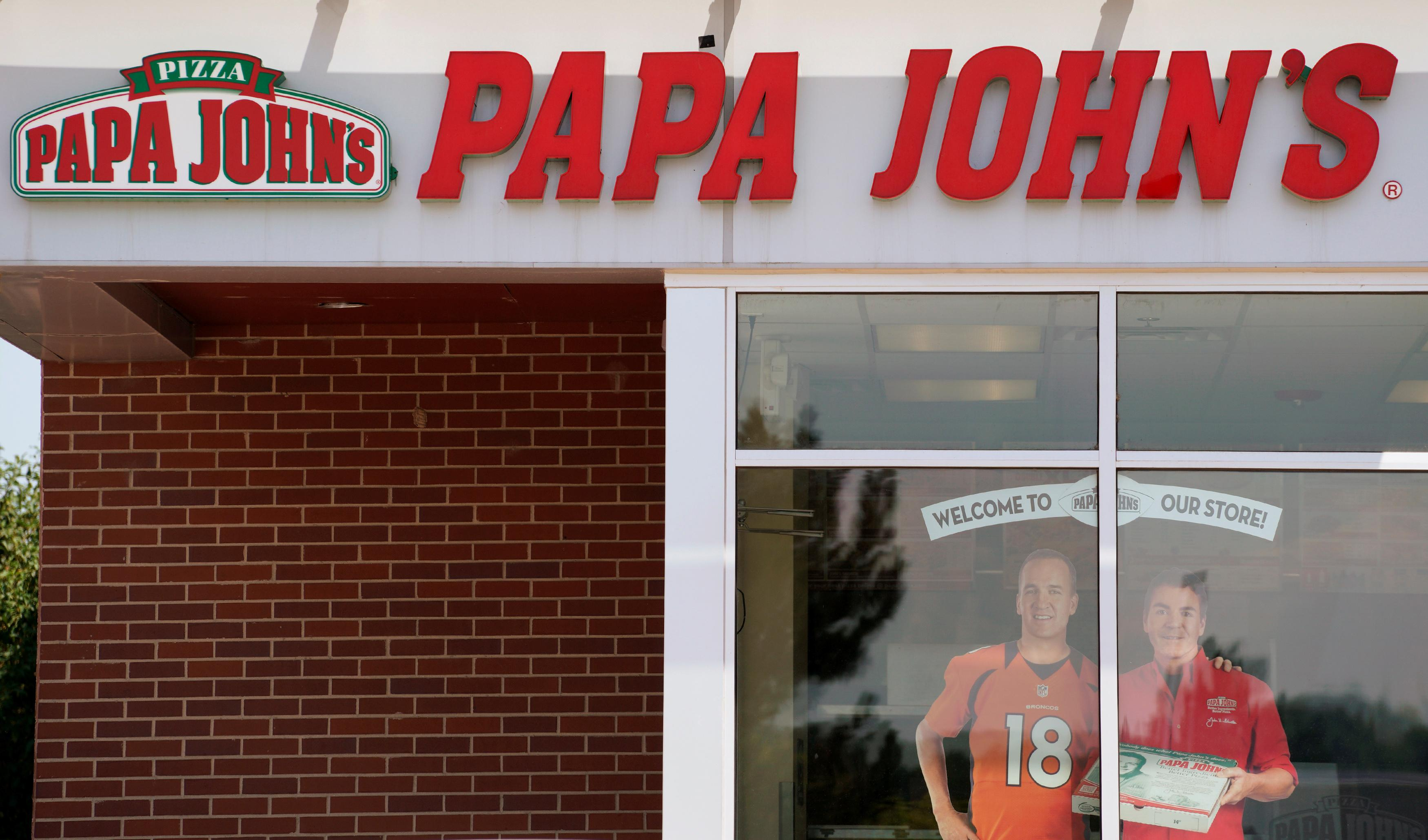 The Papa John's store in Westminster, Colorado, U.S. August 1, 2017.  Rick Wilking