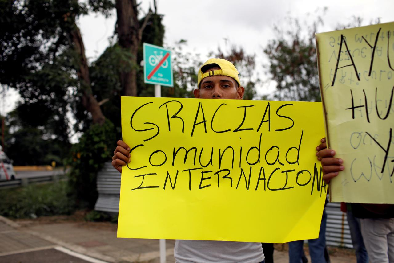 Image result for Venezuela opposition delivers first cargo of humanitarian aid: Guaido