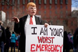 Presidents Day protests decry Trump's emergency declaration