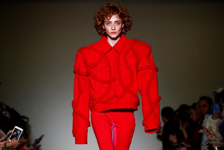 08caa21d2 A model presents a creation during the Annakiki show at Milan Fashion Week  in Milan