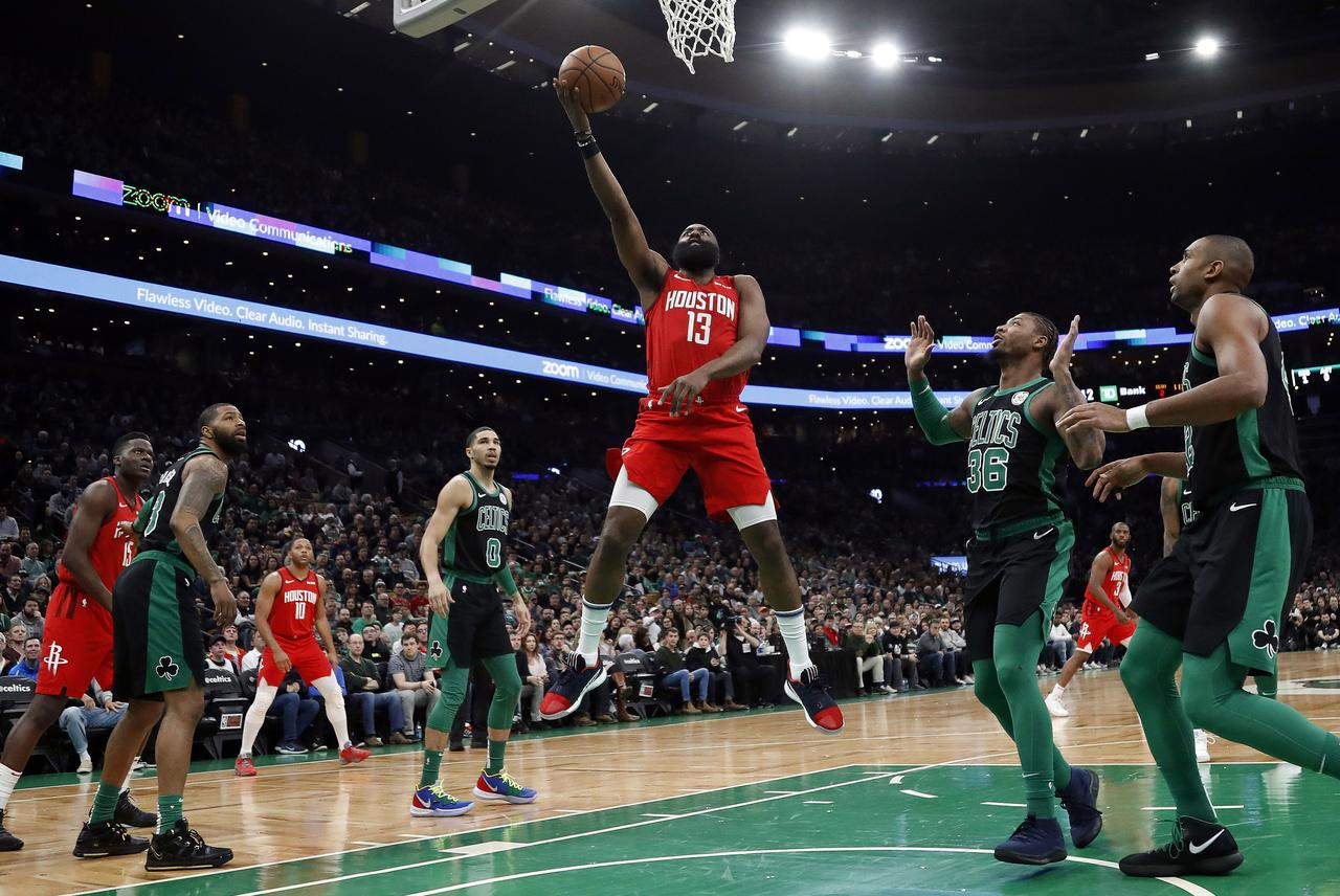 Harden s 42 points help lift Rockets past Celtics  88fb956a1