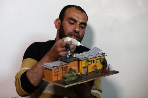 Ammunition art in Gaza