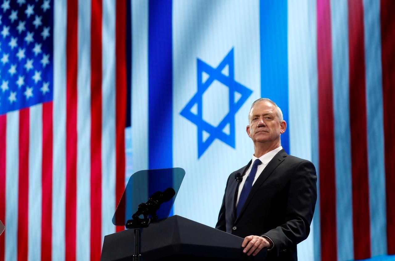Image result for Netanyahu rival Gantz, addressing pro-Israel lobby in U.S., urges unity