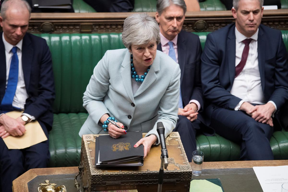 Eurosceptic UK lawmakers challenge PM May over Brexit delay: letter