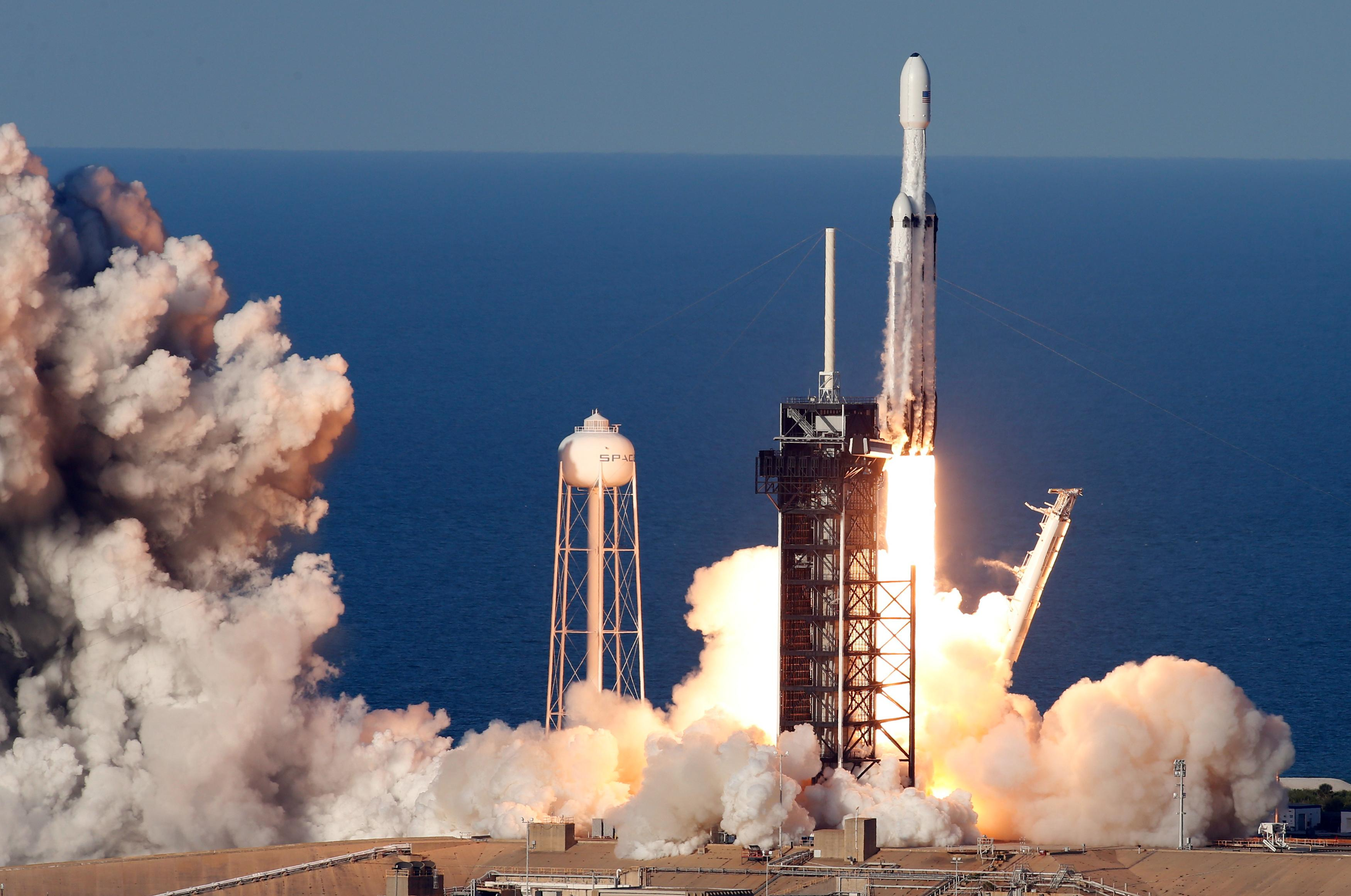 SpaceX's Falcon Heavy conducts first commercial flight