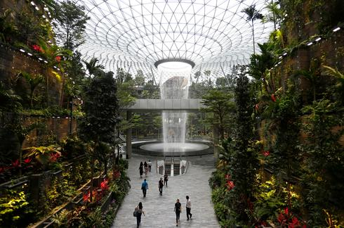World's tallest indoor waterfall unveiled
