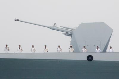 China's navy on parade