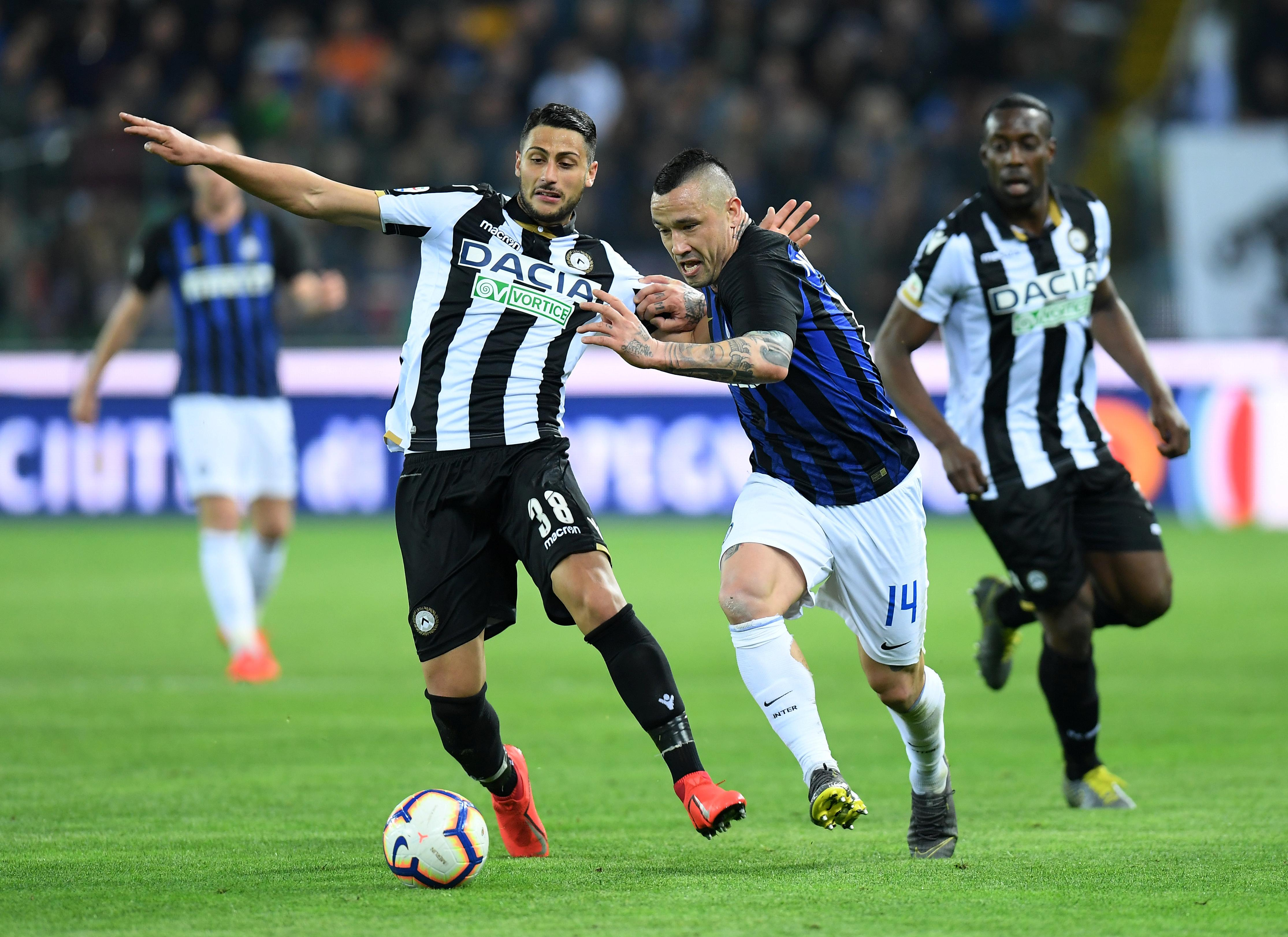 Soccer: Inter Milan held to another stalemate away to struggling Udinese