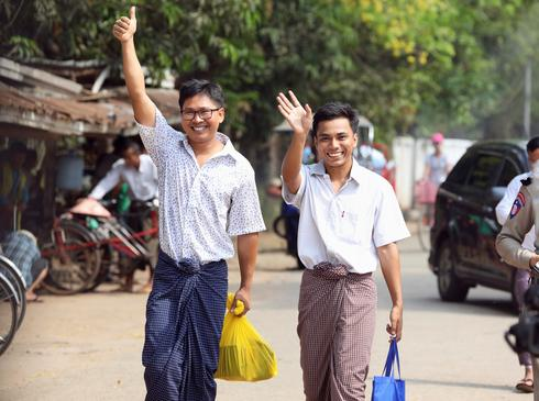 Reuters reporters jailed in Myanmar freed from prison