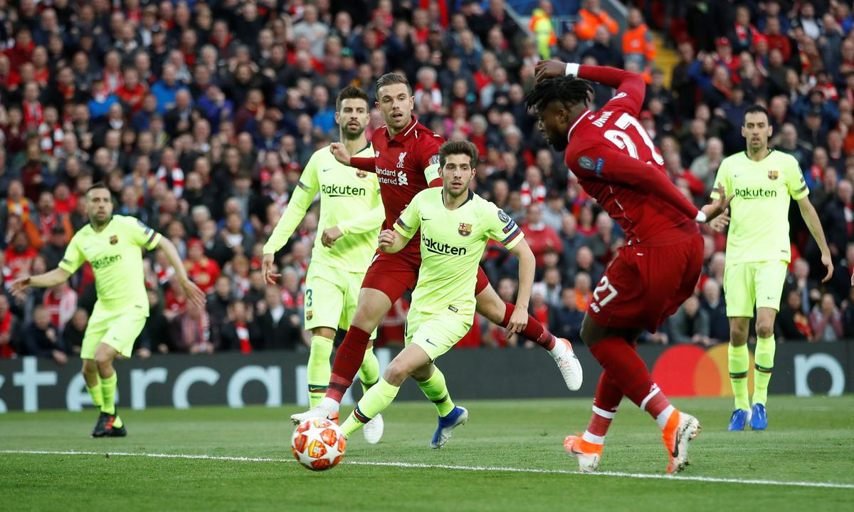 Soccer: Liverpool stun Barcelona to reach final with 4-0 ...