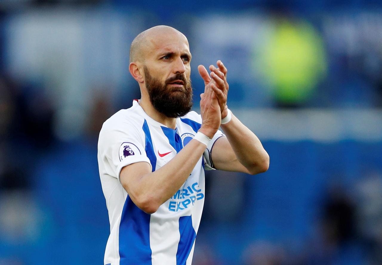 Brighton's 'El Capitan' Bruno to retire after Man City match - Reuters