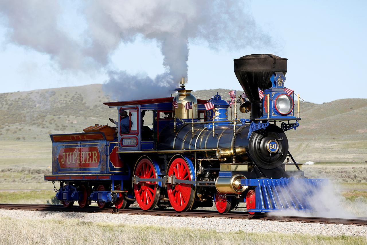 5b8cab5ecdcf ... Promontory Summit on the 150th anniversary of the completion of the  Transcontinental Railroad at Golden Spike National Historical Park in  Promontory, ...
