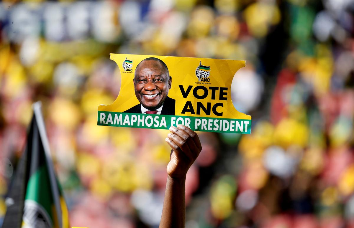 Image result for South Africa's Ramaphosa targets reforms after election win