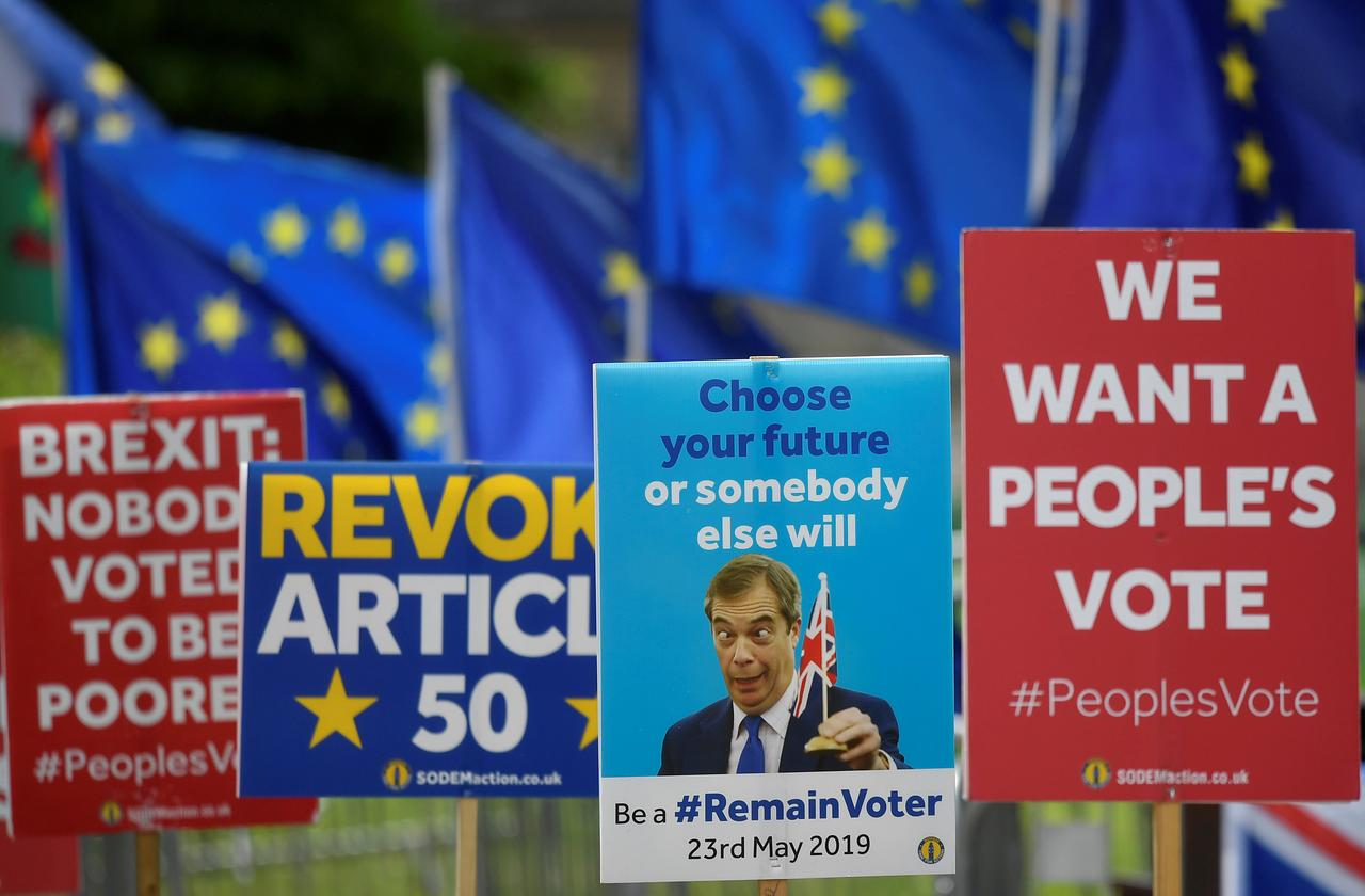 Image result for Divided Britain heads to the polls for EU elections it was not meant to hold
