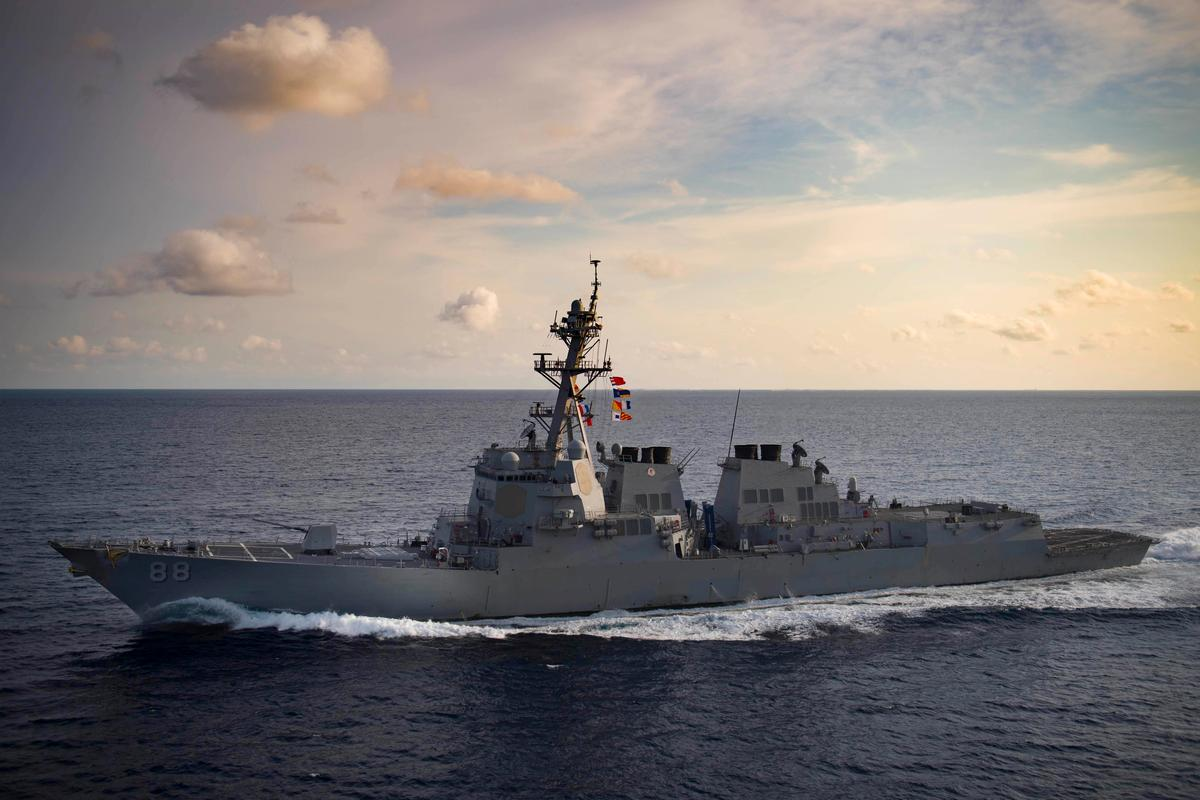 U.S. Navy again sails through Taiwan Strait, angering China