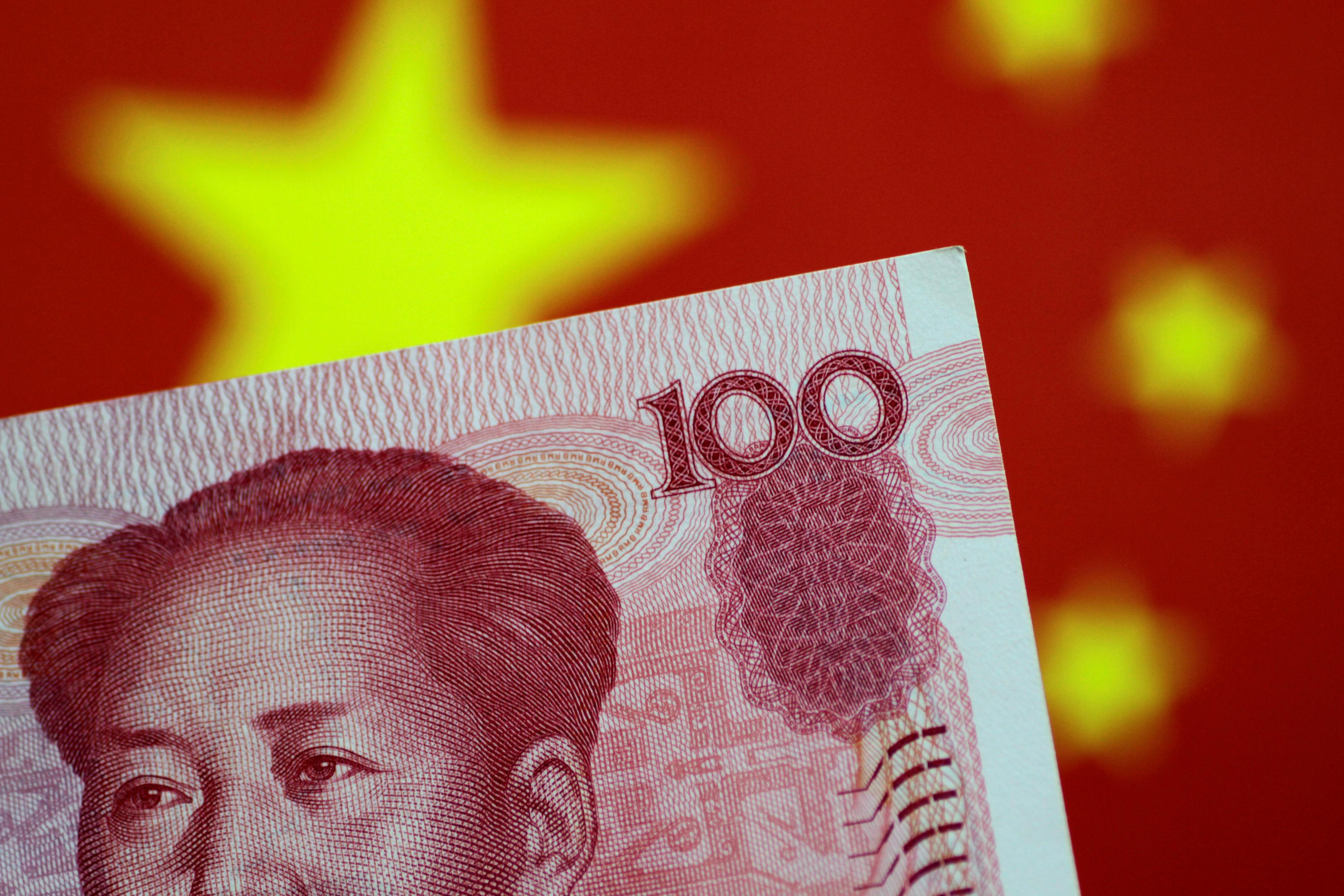A China yuan note is seen in this illustration photo May 31, 2017.  Thomas White/Illustration