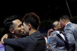 Mass same-sex wedding in Taiwan