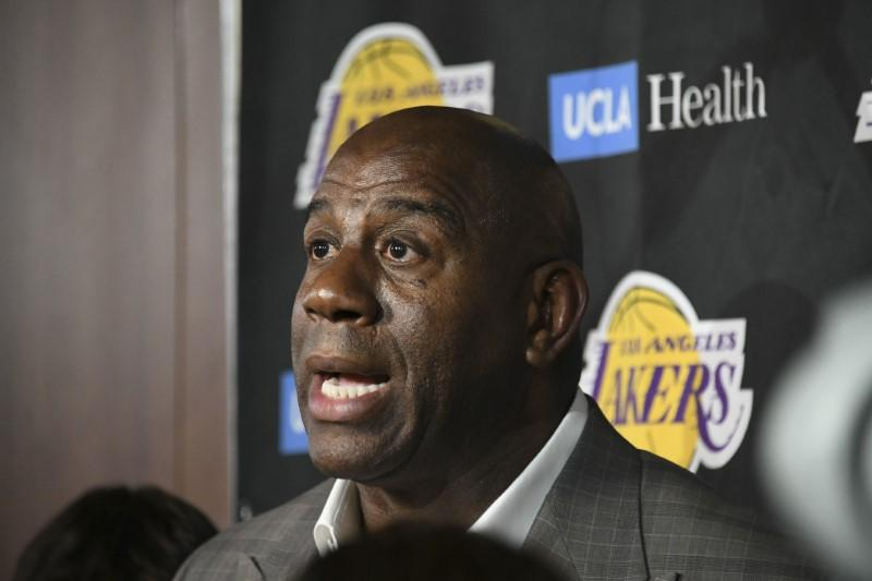 5c0add3cfe9 Magic Johnson denies fueling reported Lakers dysfunction - Reuters