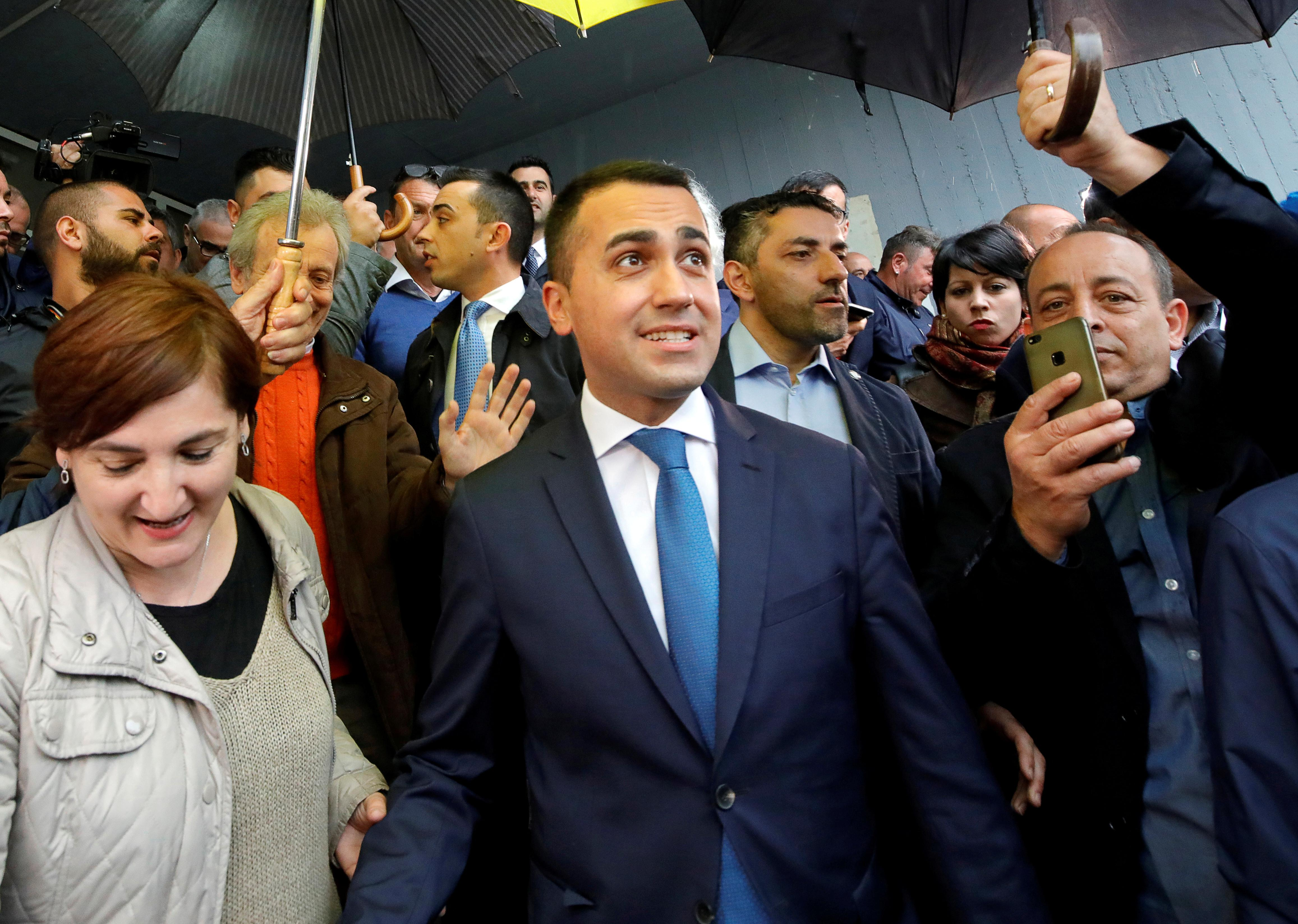 Italy's 5-Star backs Di Maio to carry on as leader after EU vote defeat