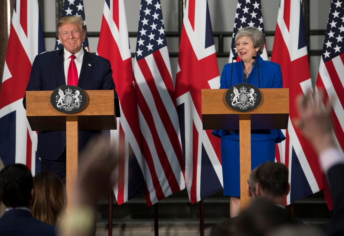 Effusive Trump promises Britain a 'phenomenal' post-Brexit trade deal