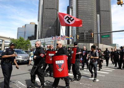 White nationalists disrupt Detroit pride parade