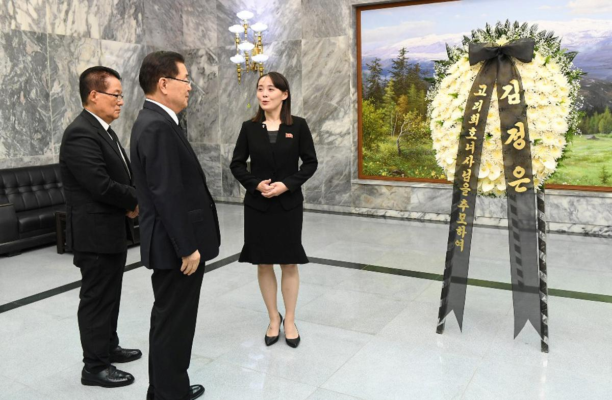 North Korea's Kim sends flowers for ex-first lady, but no letter for Moon