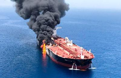 Oil tankers attacked in Gulf of Oman