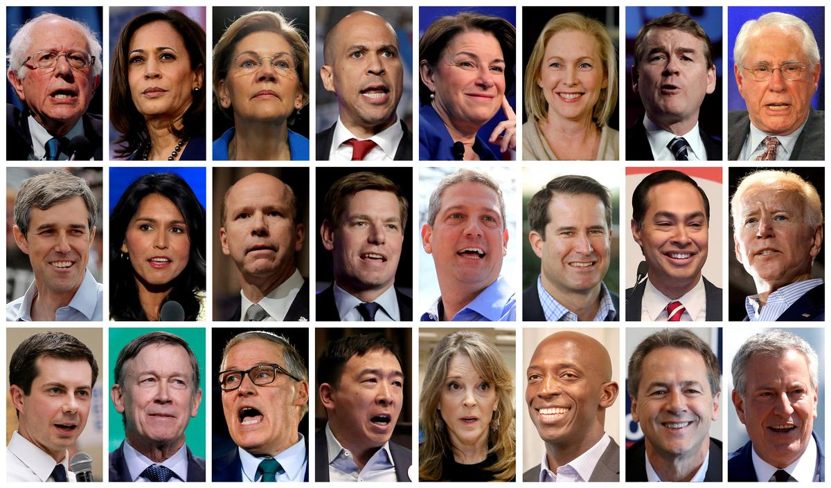 Democrats announce 20 U.S. presidential candidates who qualify for first debate