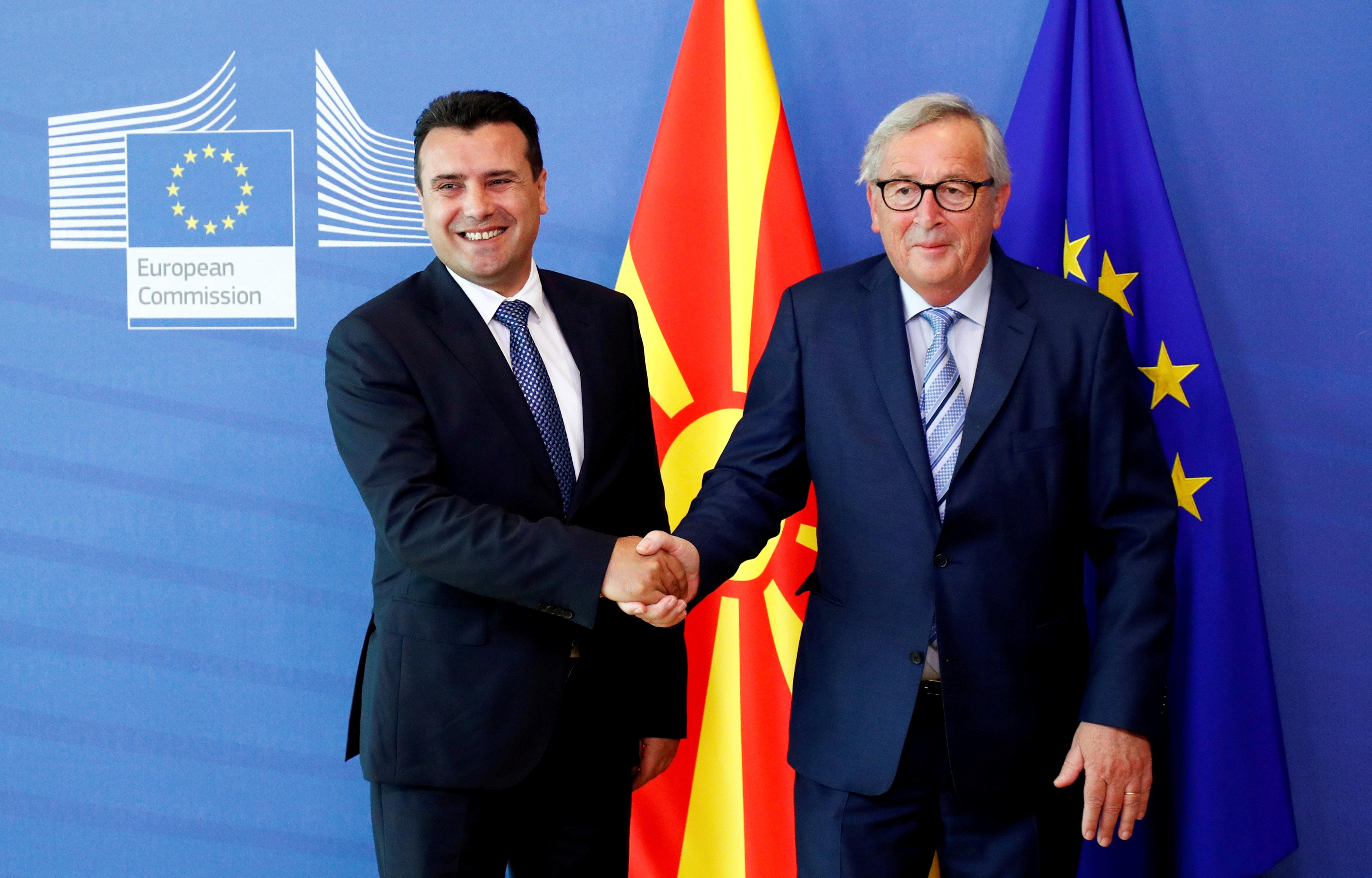 Macedonia on track for EU accession talks but not Albania: diplomats