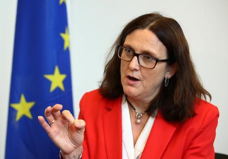 EU's Malmstrom hopes Trump, Xi can meet and reduce trade tensions
