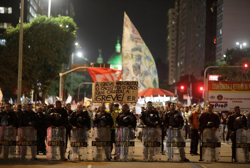 Brazil oil workers join pension reform protests with strike action