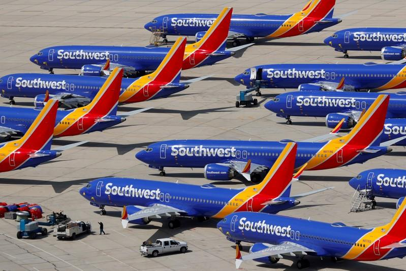Southwest sees higher second-quarter unit revenues, and costs, due to 737 MAX groundings