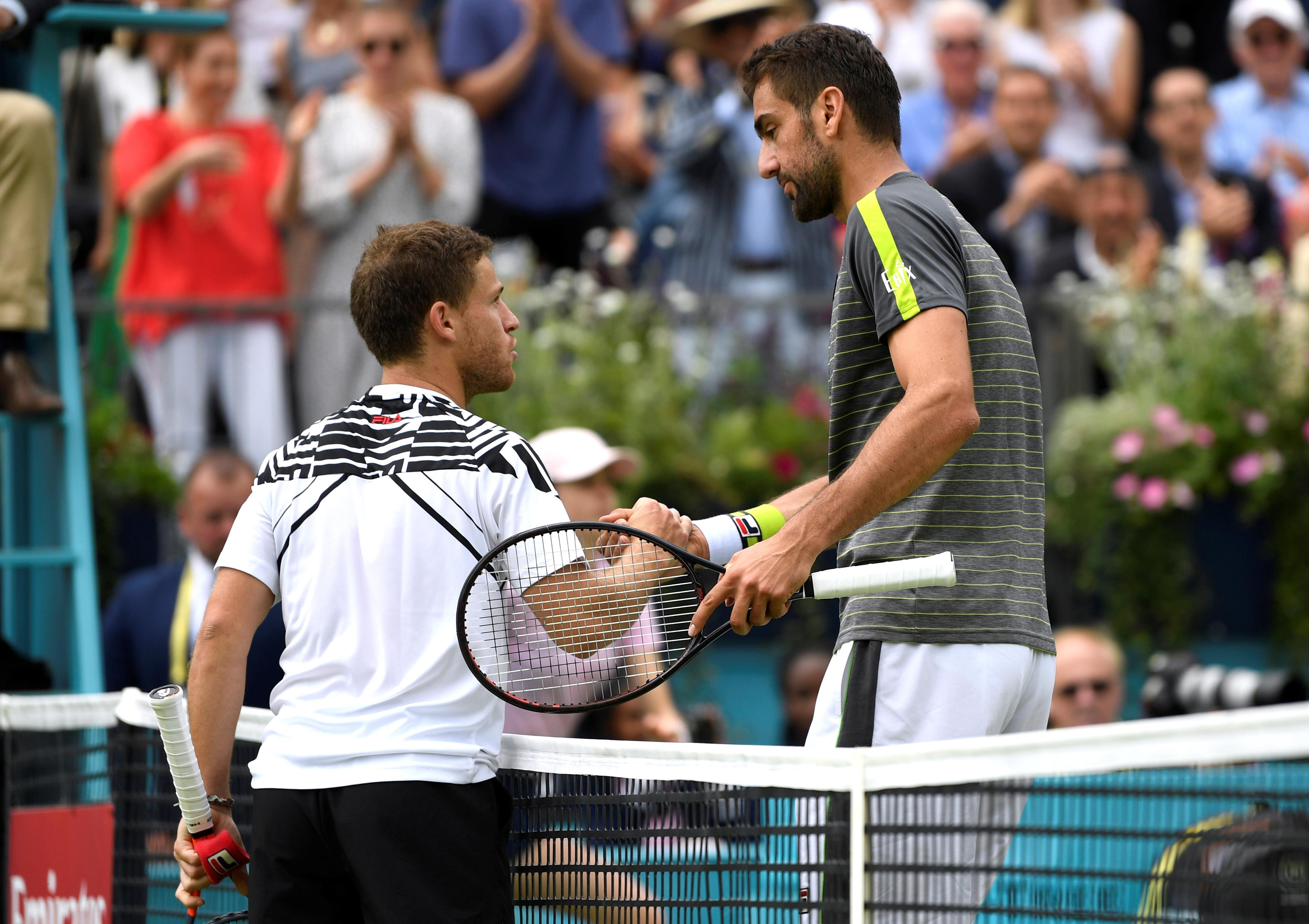 Cilic out at Queen's, Tsitsipas through at last