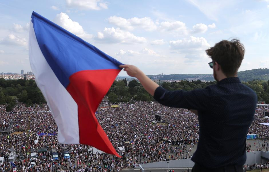 Image result for protests czech republic babis