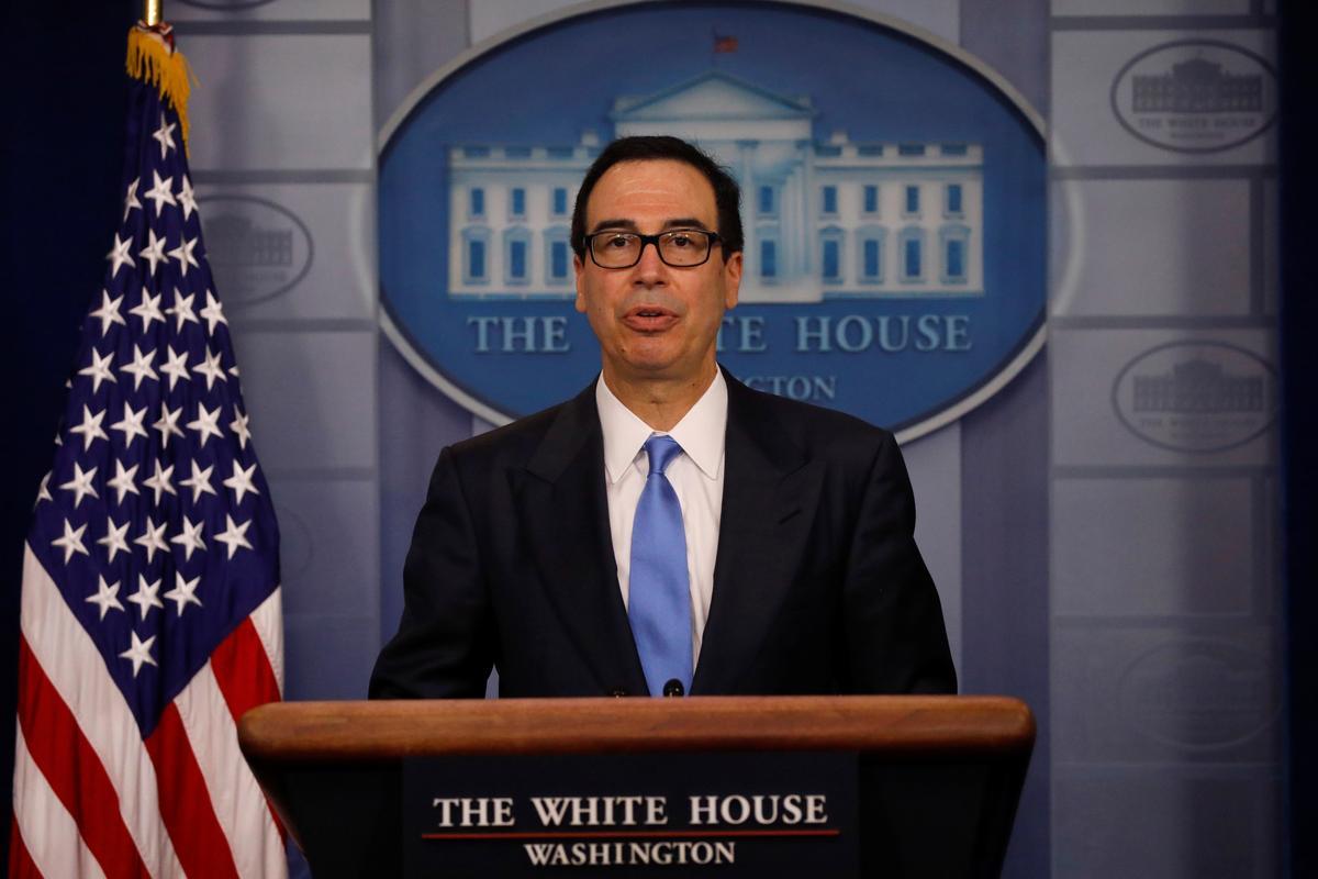 Mnuchin says Trump order will lock up billions more in Iranian assets
