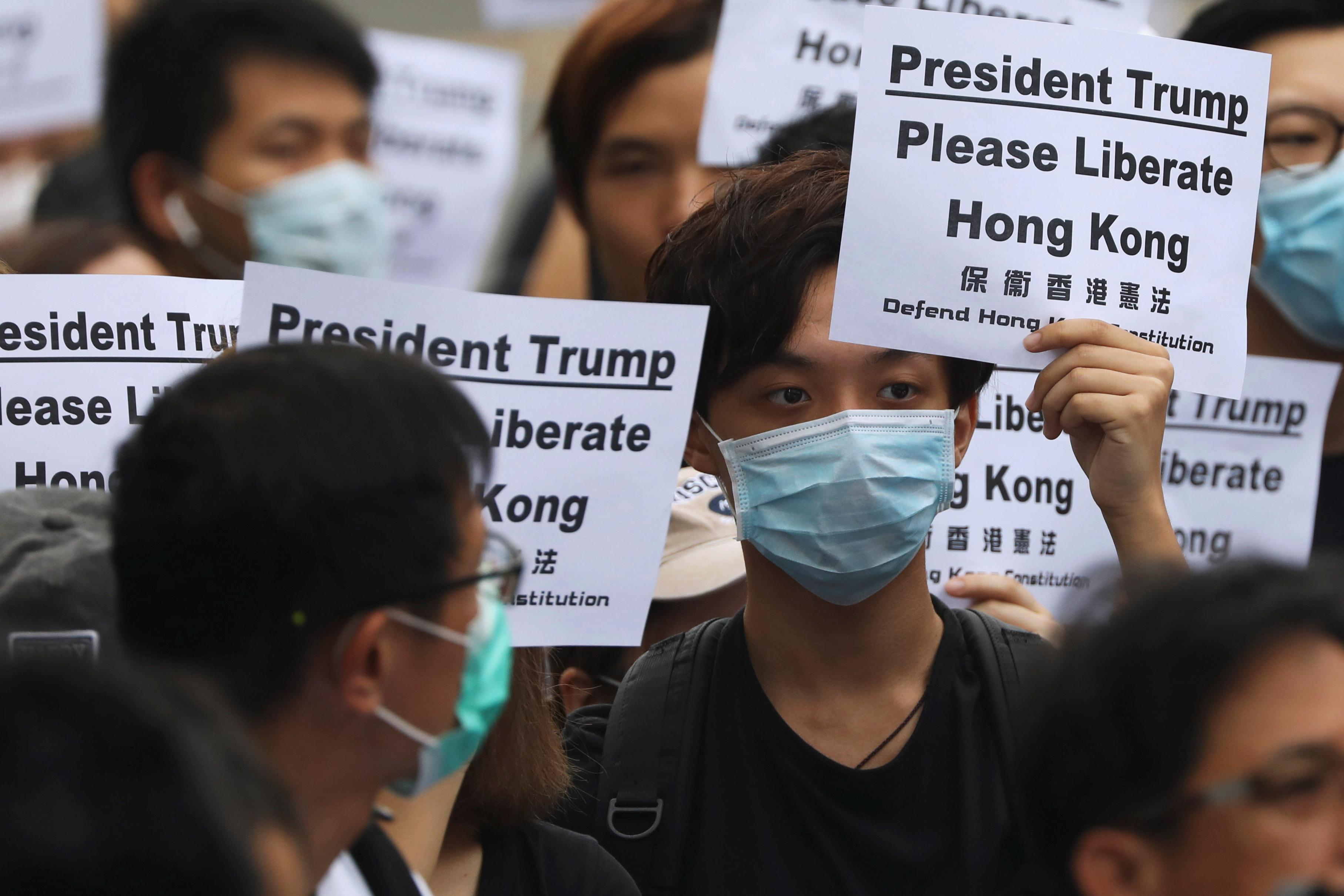 Hong Kong activists call on G20 leaders to help 'liberate' city