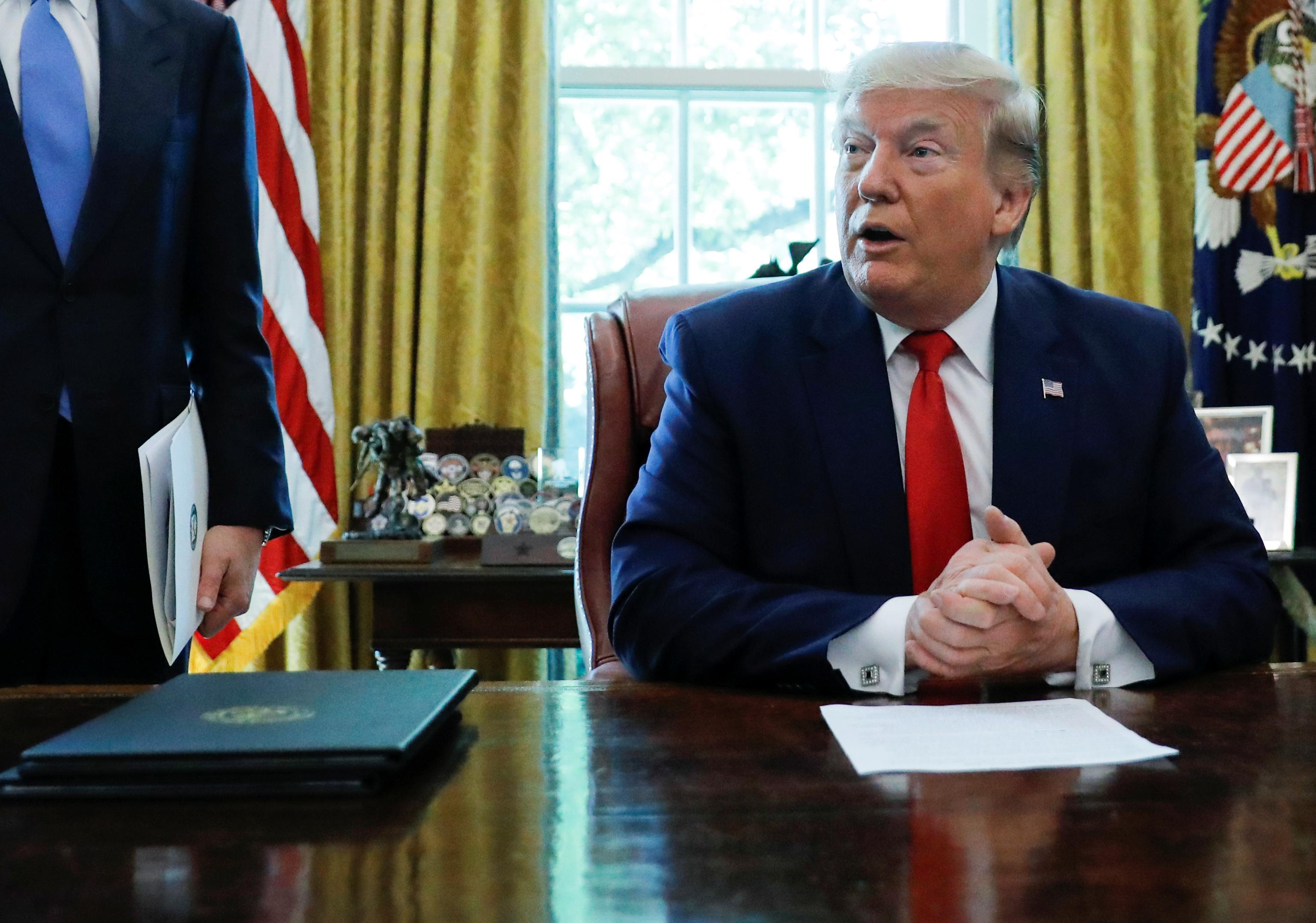 Trump slams Iran's leaders, says U.S. in 'strong position'