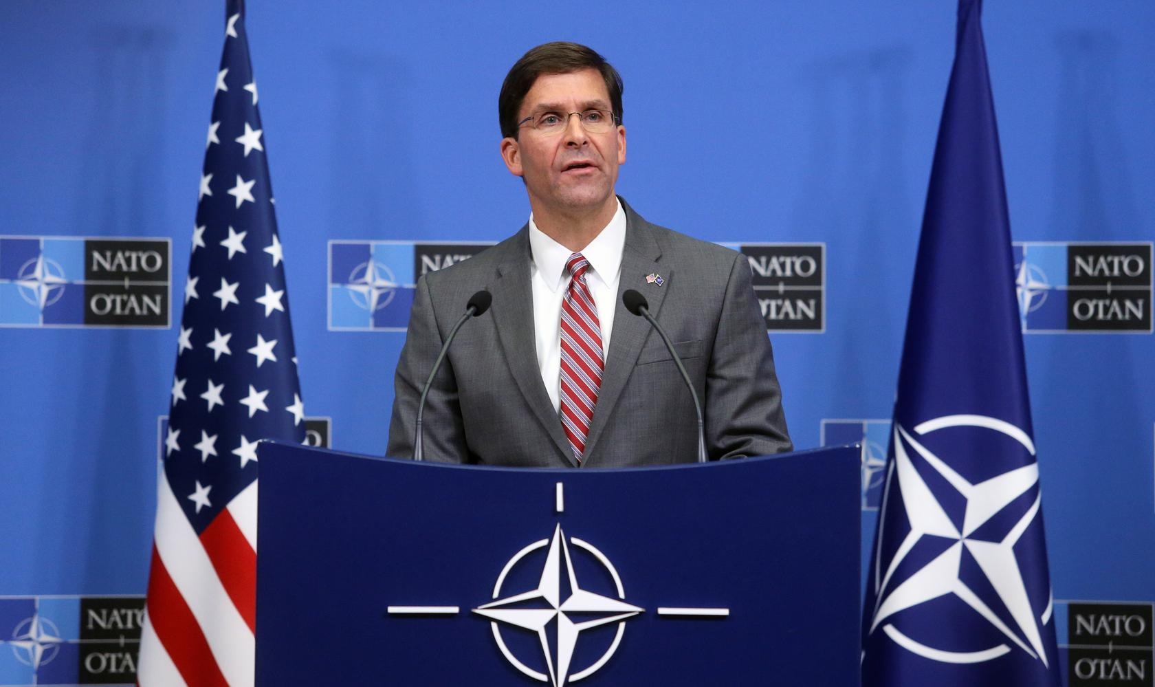 U S  defense chief tries to rally NATO allies on Iran as