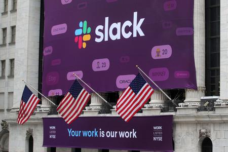 Slack Technologies down 1% after service outage