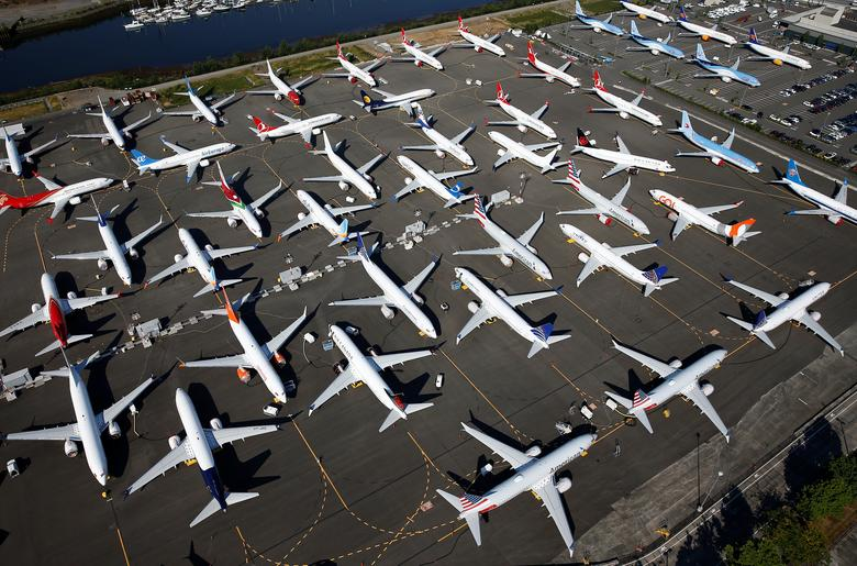 Grounded Boeing 737 MAX planes from above | Reuters com