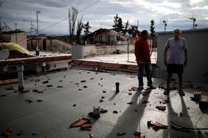 Freak storm lashes Greek resorts