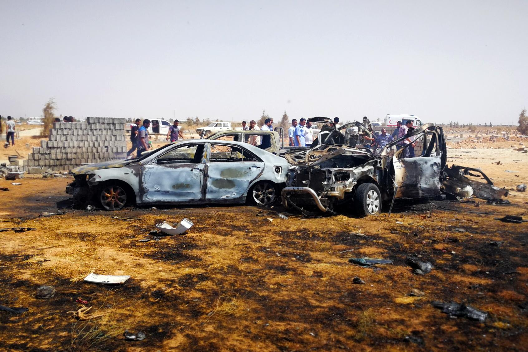 Four killed as car bomb targets funeral in Libya's Benghazi - sources